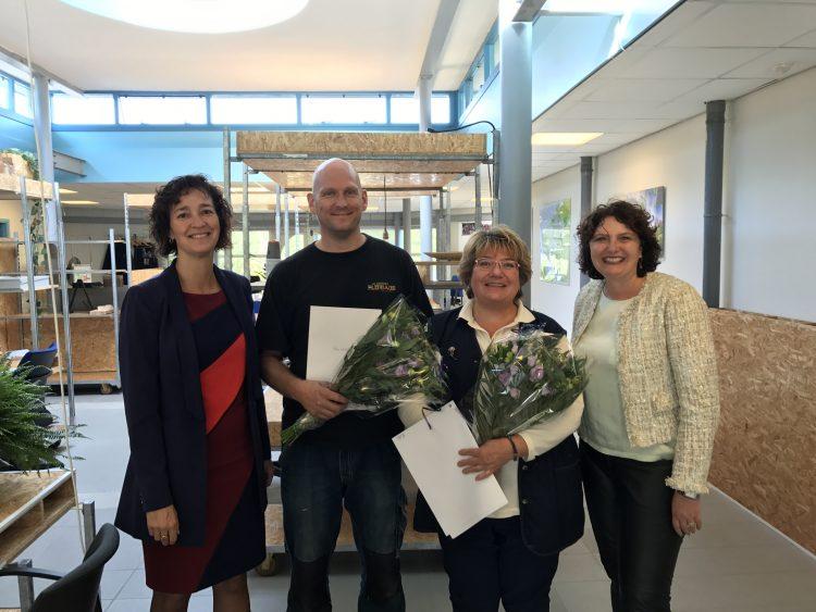 v.l.n.r: Annemieke van Schaik, Marilyn Struwe, Peter Bakker en Ellen van Poorten.