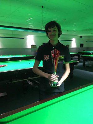 1 Mike Ebbe 2e prijs NK Snooker junioren 2017